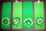 Foam Shamrock Craft Project: Bookmarks