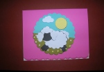 Glue your Punch Art Sheep Medallion to your card and it's ready to mail to brighten someone's spring day!